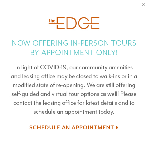 Now offering in-person tours by appointment only at The Edge in Milpitas, California